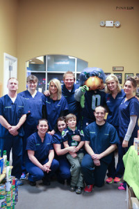 Pearson office staff with blitz and food2 LR-1-M