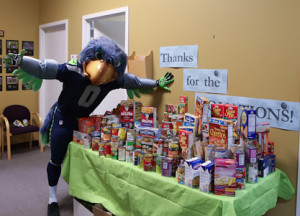 blitz with food donations
